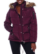 Madden Girl - MG HI Nk Faux Fur Trim Hood Nylon Puffer-2403041