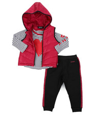 Girls - DKNY 3PC Puffer Vest Set (2T-4T)-2402961