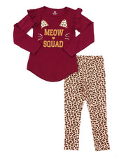 Girls - Long Sleeve Tunic Top & Leggings Set (4-6X)-2402953