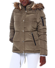 Madden Girl - MG HI Nk Faux Fur Trim Hood Nylon Puffer-2403031