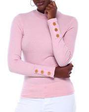 Fashion Lab - Elbow Button Slv Ribbed Tee-2403766