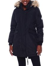 Madden Girl - MG Faux Fur Trim Hood Parka-2403202