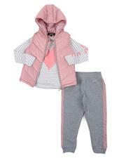 Girls - DKNY 3PC Puffer Vest Set (4-6X)-2402974