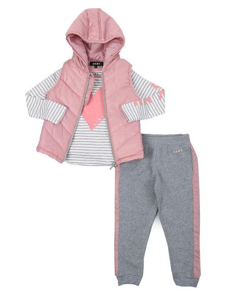 DKNY Jeans - DKNY 3PC Puffer Vest Set (4-6X)