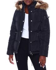 Madden Girl - MG HI Nk Faux Fur Trim Hood Nylon Puffer-2403021