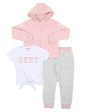 Girls - DKNY 3PC Jogger Set (4-6X)-2402983