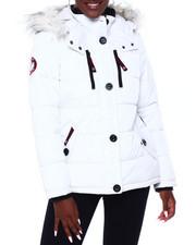 Canada Weather Gear - CWG Faux Fur Trim Hood Short Puffer W/Zip Side-2403091