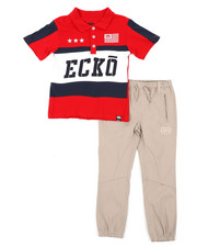Ecko - 2 Pc Polo Shirt & Pants Set (4-7)-2402932