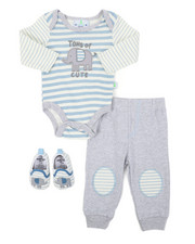 Duck Duck Goose - 3 PC Knit Set W/ Booties (Infant)-2402896