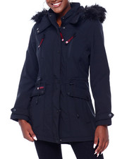 Canada Weather Gear - CWG Faux Fur Trim Hood Soft Shell Parka-2403111