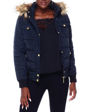 Rocawear - RCW Faux Fur Trim Hood Rib Bottom Puffer-2403484