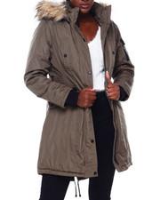 Women - MG Faux Fur Trim Hood Parka-2403170