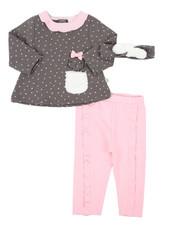 Girls - 2 Piece Fur Trimmed Set (Infant)-2402924