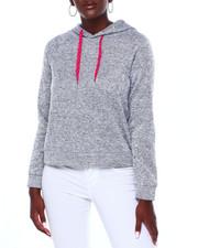 DEREK HEART - Sweater Fleece Hoodie W/Novelty Dcord-2403552