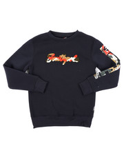 Arcade Styles - Fleece Crew Neck W/ Camo Chenille Patch (8-20)-2403197