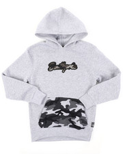 Boys - Pullover Fleece Hoodie W/ Camo Chenille Patch (8-20)-2403192