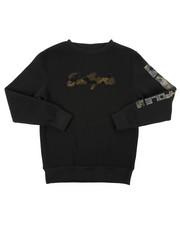 Sizes 8-20 - Big Kids - Fleece Crew Neck W/ Camo Chenille Patch (8-20)-2403207