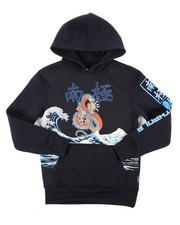 Sizes 8-20 - Big Kids - Pullover Fleece Hoodie W/ Rhinestones (8-20)-2403638