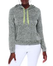 Women - Sweater Fleece Hoodie W/Novelty Dcord-2403556