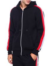 Men - Bi Color Stripe Hoody-2402420