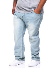 Jeans - Stone Wash Sand Blast Denim Pants Relaxed Straight Fit (B&T)-2390171