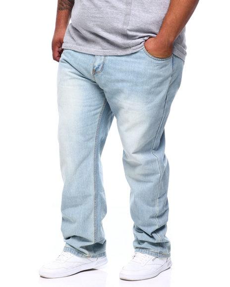 Basic Essentials - Stone Wash Sand Blast Denim Pants Relaxed Straight Fit (B&T)