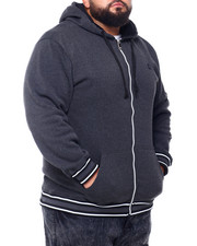 Men - Flat Knit Trimmed Hoodie (B&T)-2401808
