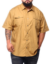 Short-Sleeve - Solid Woven S/S Shirt (B&T)-2404067