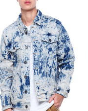 Denim Jackets - Antique Acid wash Denim Jacket-2405659