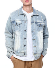 Denim Jackets - Antique Bleach Wash Denim Jacket-2404648