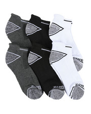 DRJ SOCK SHOP - Six Pack Low Cut Socks-2405282