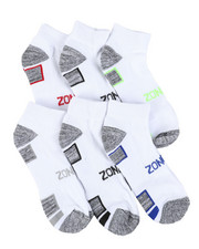 DRJ SOCK SHOP - Six Pack Quarter Socks-2405281