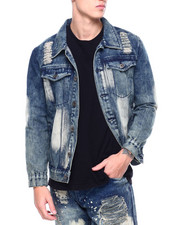 Denim Jackets - Distressed Denim Jacket-2397488