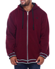 Outerwear - Flat Knit Trimmed Hoodie (B&T)-2401796