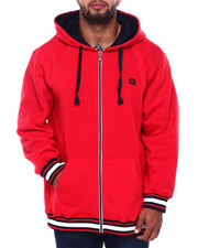 Outerwear - Flat Knit Trimmed Hoodie (B&T)-2402144