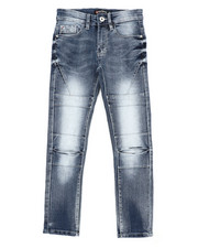 Sizes 8-20 - Big Kids - Flex Moto Denim Jeans (8-18)-2404373