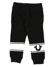 Bottoms - TR Logo Stripe Sweatpants (2T-4T)-2406231
