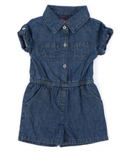 Rompers - Chambray Romper (2T-4T)-2403272