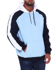 Hoodies - Color Block Piecing Fleece Anorak Pullovers (B&T)-2407924