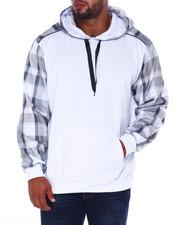 Hoodies - Spliced Fleece Pullover Hoodie (B&T)-2407937