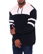 Big & Tall - Solid Color Blocked Fleece Pullovers (B&T)-2408387
