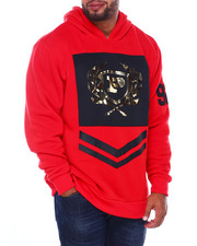 Phat Farm - L/S Embossed Metallic Vinyl Patch Fleece Hoodie (B&T)-2408645