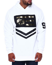 Phat Farm - L/S Embossed Metallic Vinyl Patch Fleece Hoodie (B&T)-2408421