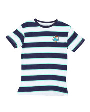 Boys - Printed Stripe T-Shirt W/ Embroidery (8-18)-2405686