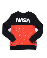 Arcade Styles - Fleece Crew Neck W/ Chenille Patch (8-20)-2405000
