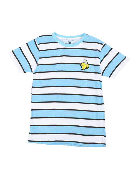 Arcade Styles - Printed Stripe T-Shirt W/ Embroidery (8-18)