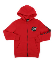 Arcade Styles - Full Zip Fleece Hoodie W/ Embroidery Patch (8-20)-2404987