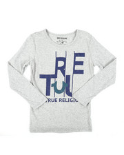 True Religion - TR Slice Long Sleeve Tee (8-20)-2405874