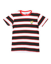 Boys - Printed Stripe T-Shirt W/ Embroidery (8-18)-2405654