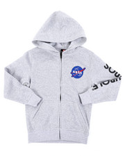 Arcade Styles - Full Zip Fleece Hoodie W/ Embroidery Patch (8-20)-2406136
